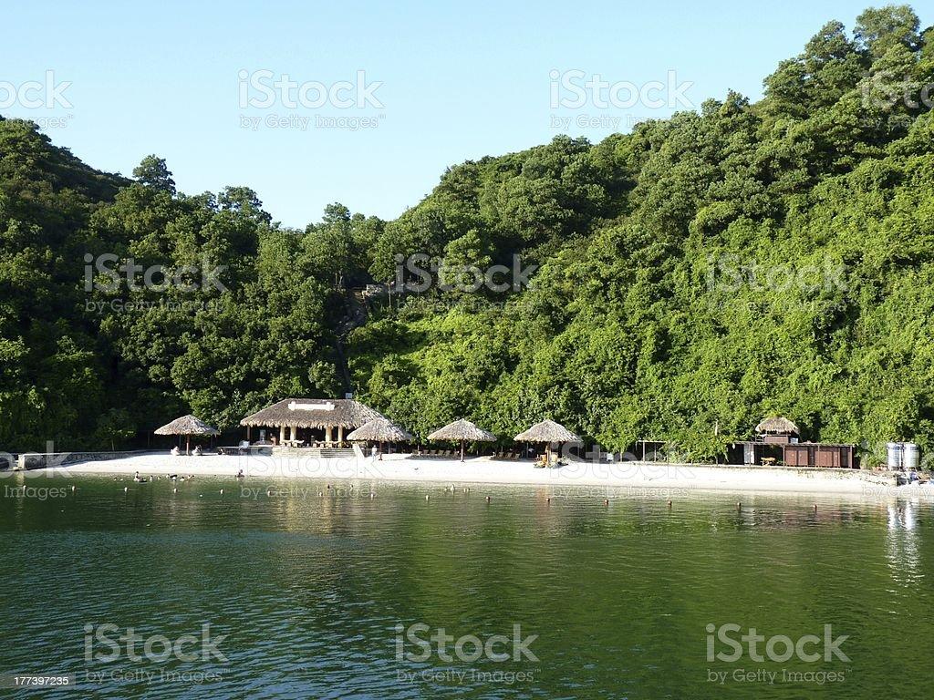 Beach in Halong Bay royalty-free stock photo