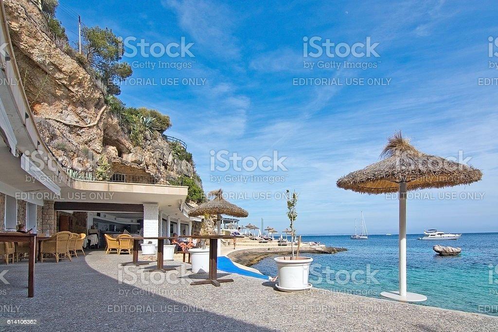 Beach in Illetes stock photo
