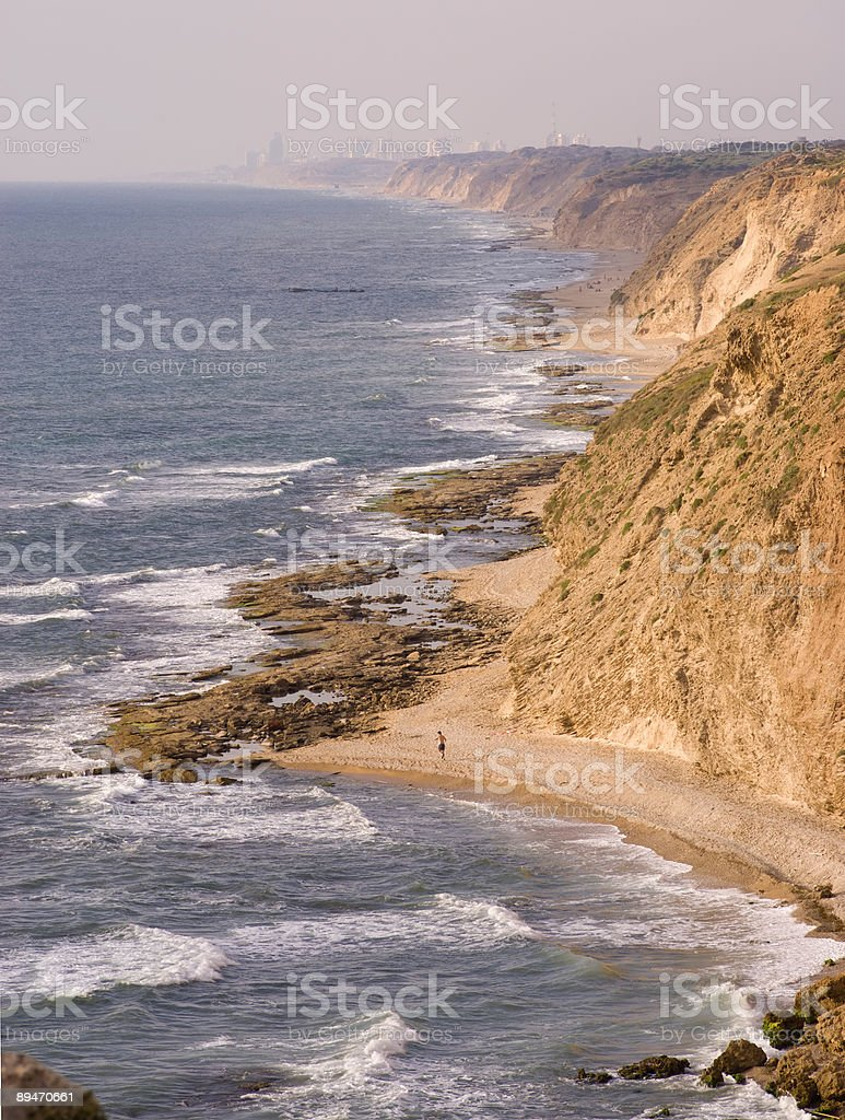 Beach in Israel royalty-free stock photo
