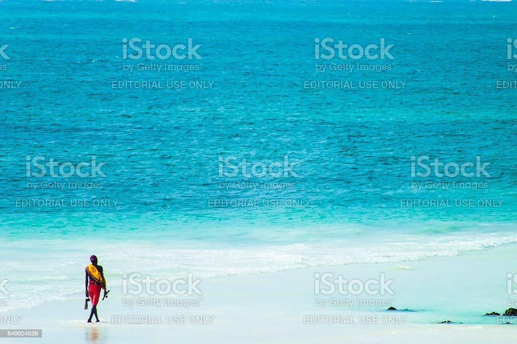 Beach in Kenya stock photo
