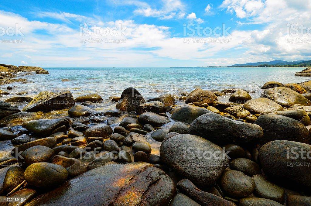 Beach in Khao Lak - Lam Ru  National park stock photo