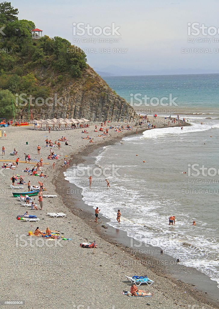 Beach In Khutor Betta Krasnodar Krai Stock Photo Download Image Now Istock