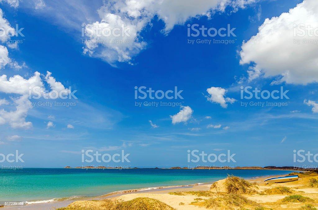 Beach in La Guajira, Colombia stock photo