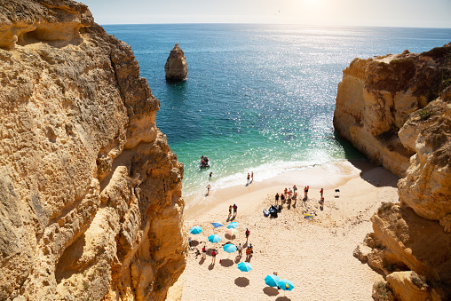 Beach in Lagos - Algarve region in Portugal.