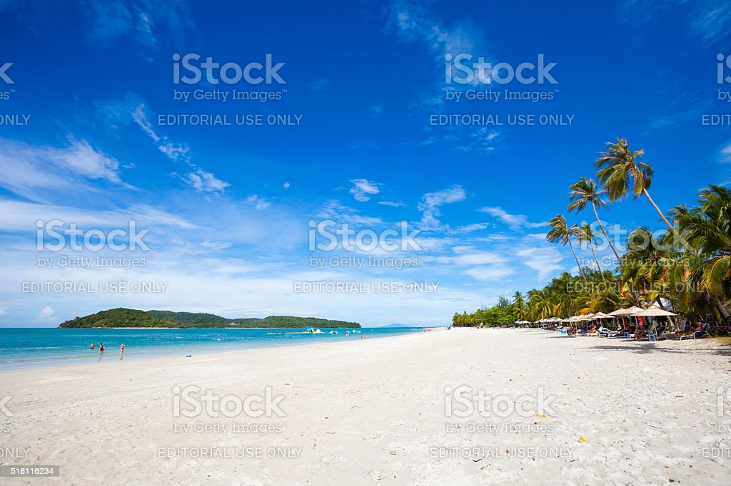 Beach in Langkawi, Malaysia stock photo
