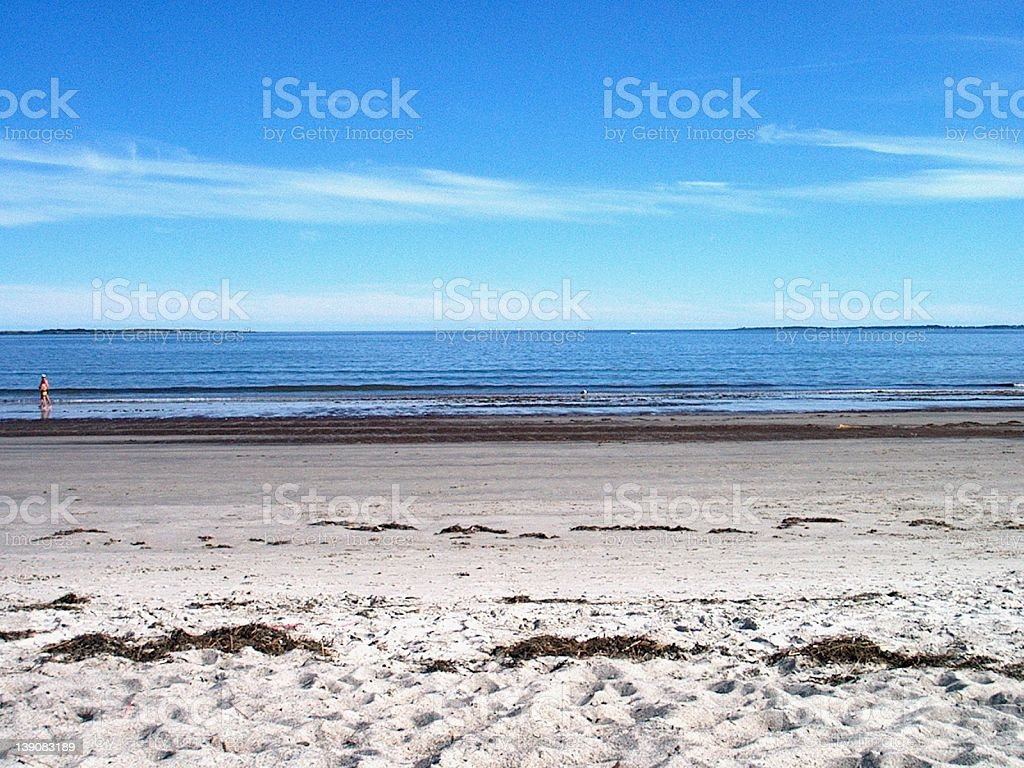 Beach in Maine royalty-free stock photo