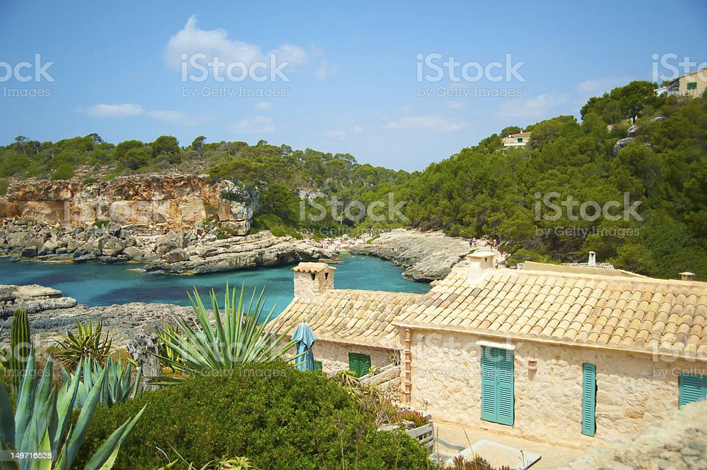 Beach in Majorca stock photo