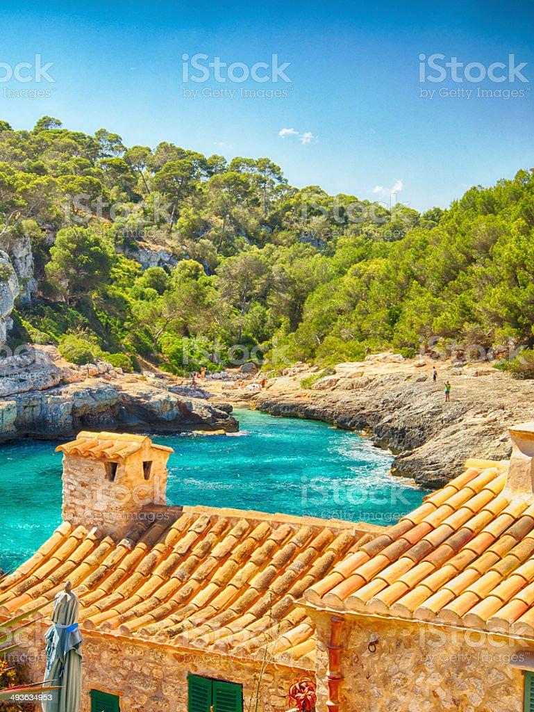 Beach in Majorca stock photo