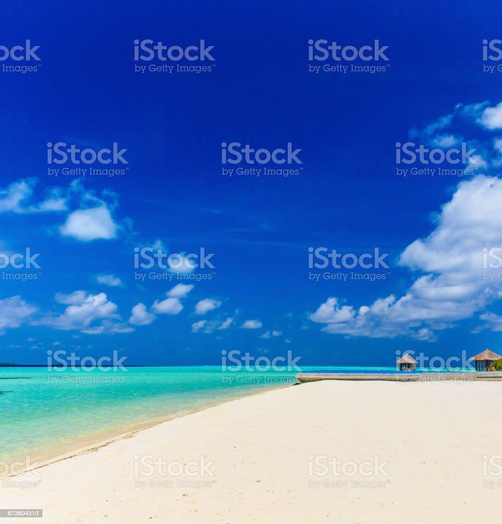 Beach Maldivler royalty-free stock photo