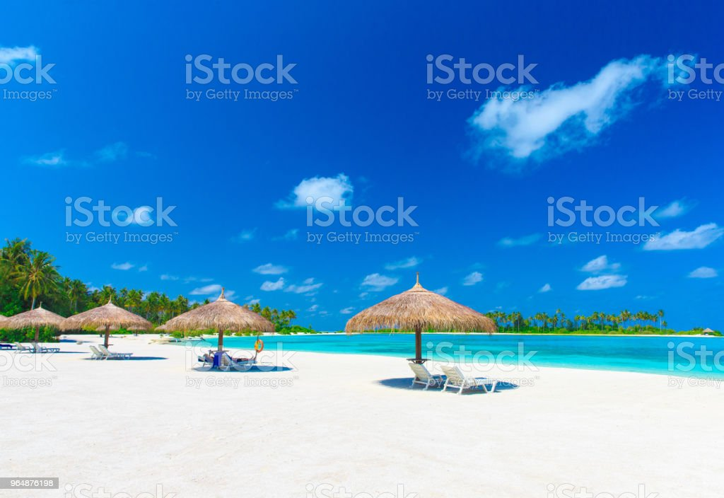 beach in Maldives royalty-free stock photo