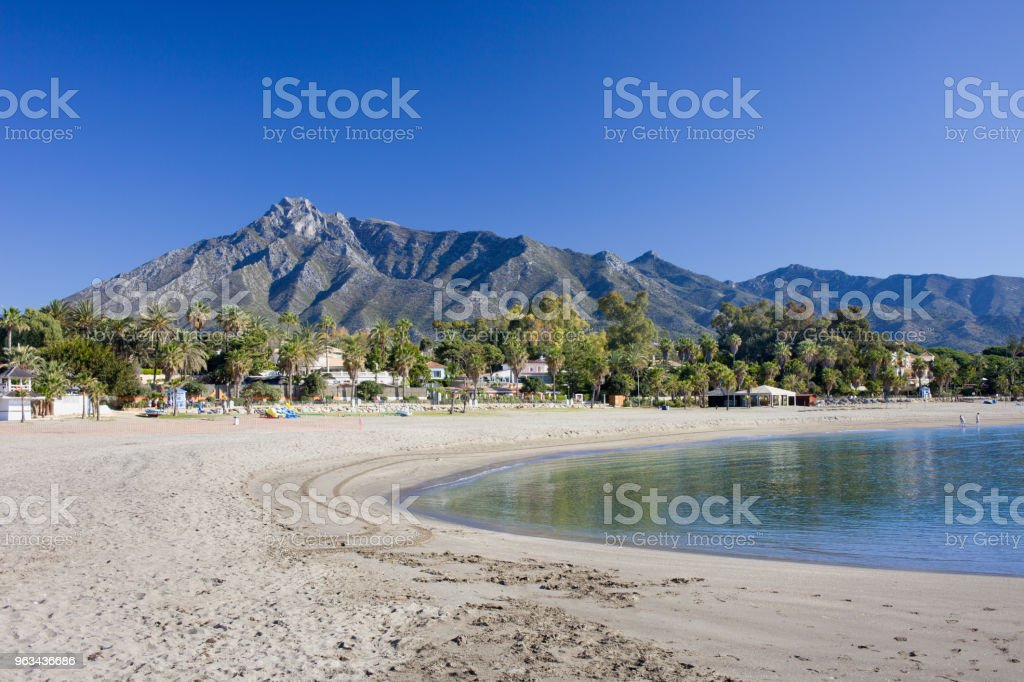 Beach in Marbella on Costa del Sol in Spain - Zbiór zdjęć royalty-free (Andaluzja)