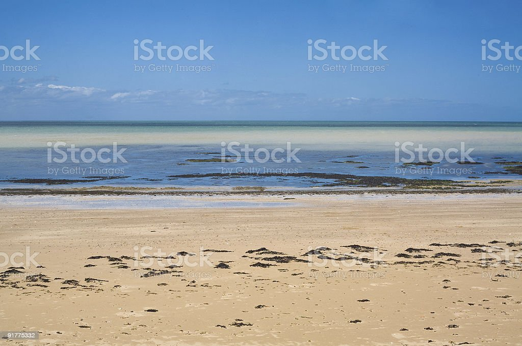 Beach in Margate UK,, During  Low Tide stock photo