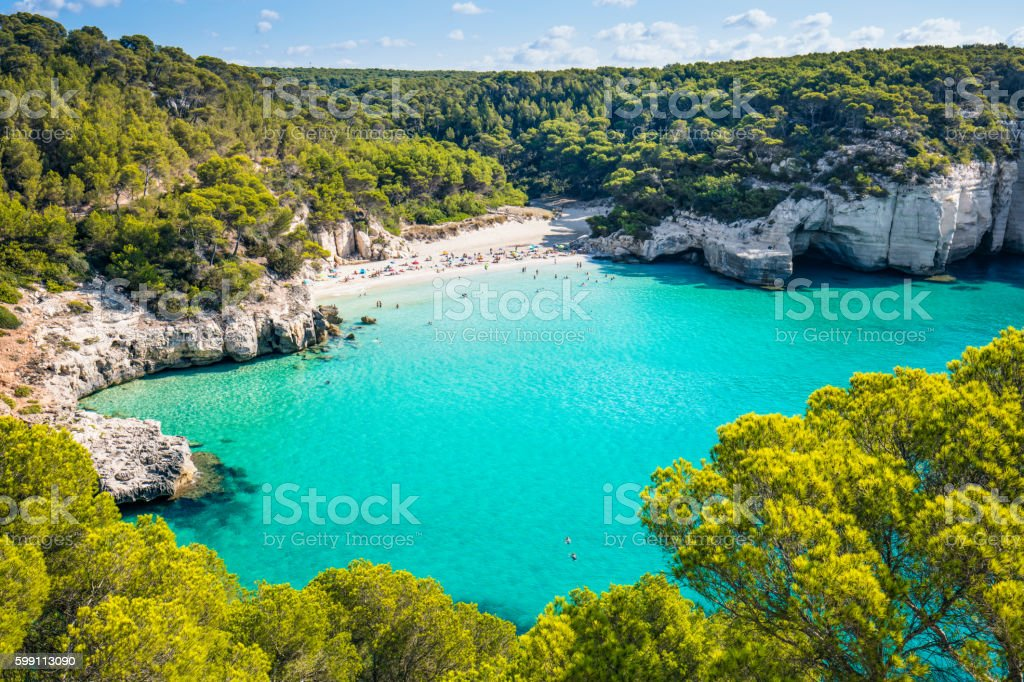 Beach in Menorca stock photo