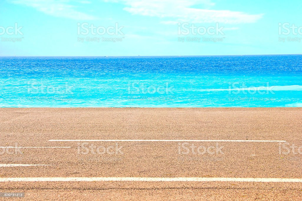 Beach in Nice, France stock photo