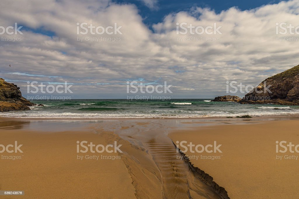 Beach in northern Spain royalty-free stock photo