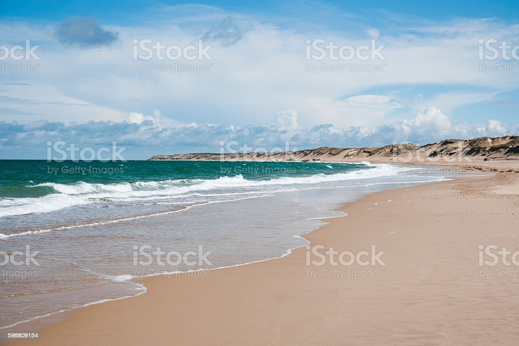 Beach in Nouvelle Aquitaine  - France stock photo