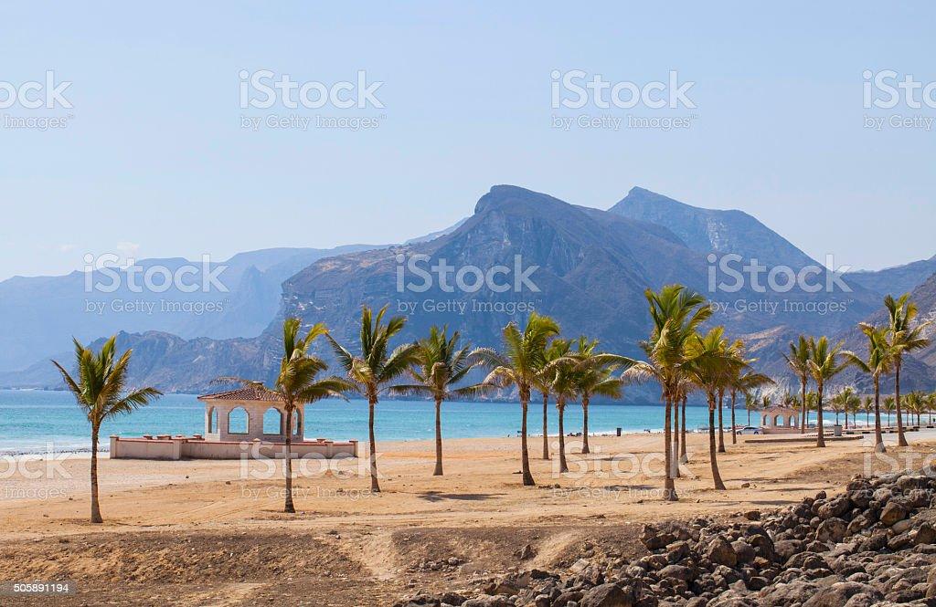 Пляж в Оман - Стоковые фото Аравия роялти-фри