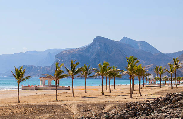 strand in oman - oman travel stock-fotos und bilder