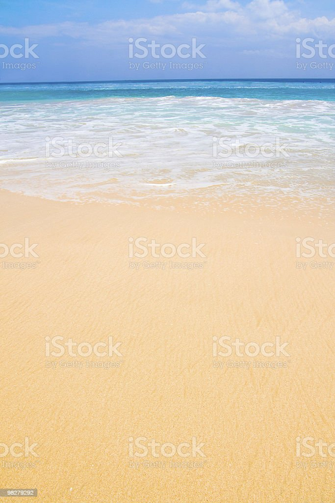 Beach in paradise on a summers day royalty-free stock photo