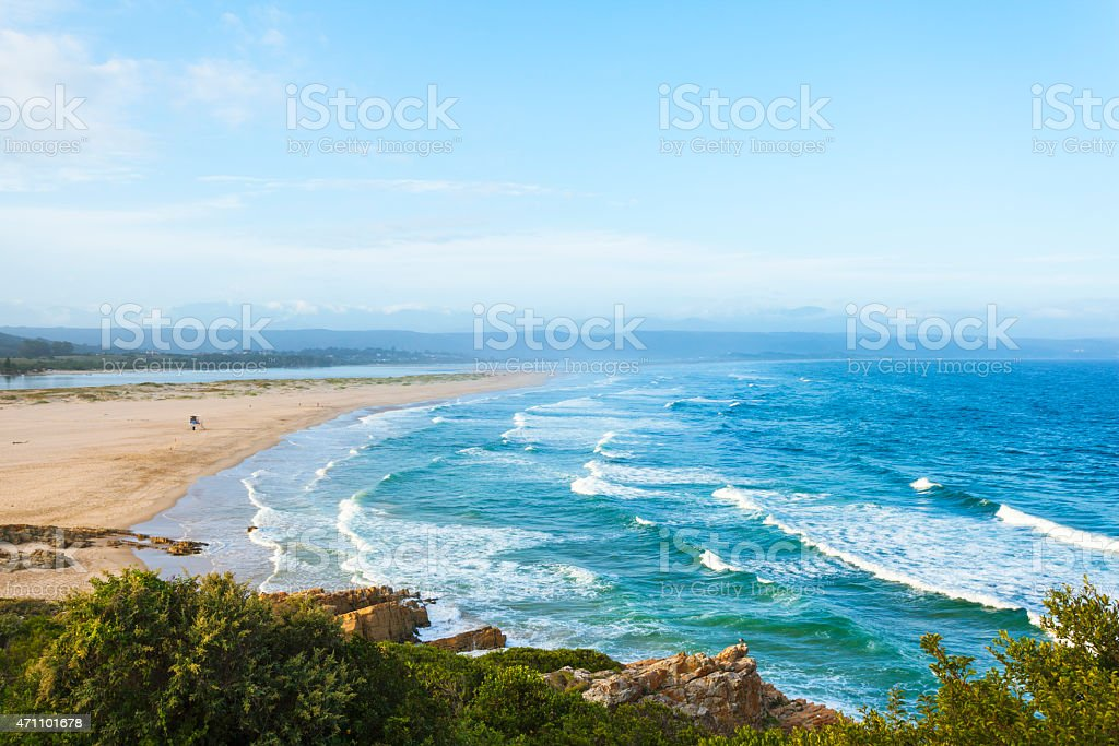 Beach in Plettenberg Bay, South Africa stock photo