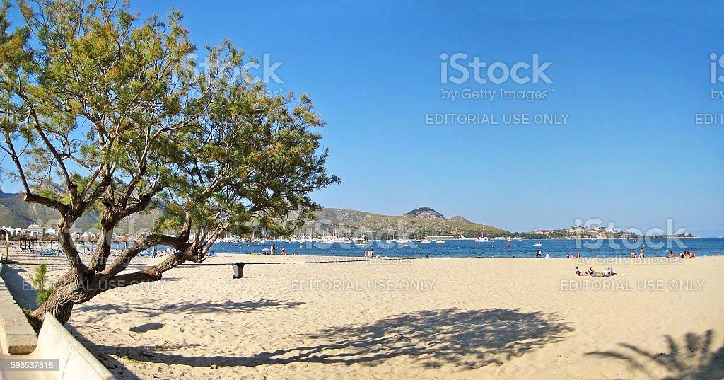 Beach in Port de Pollenca photo libre de droits