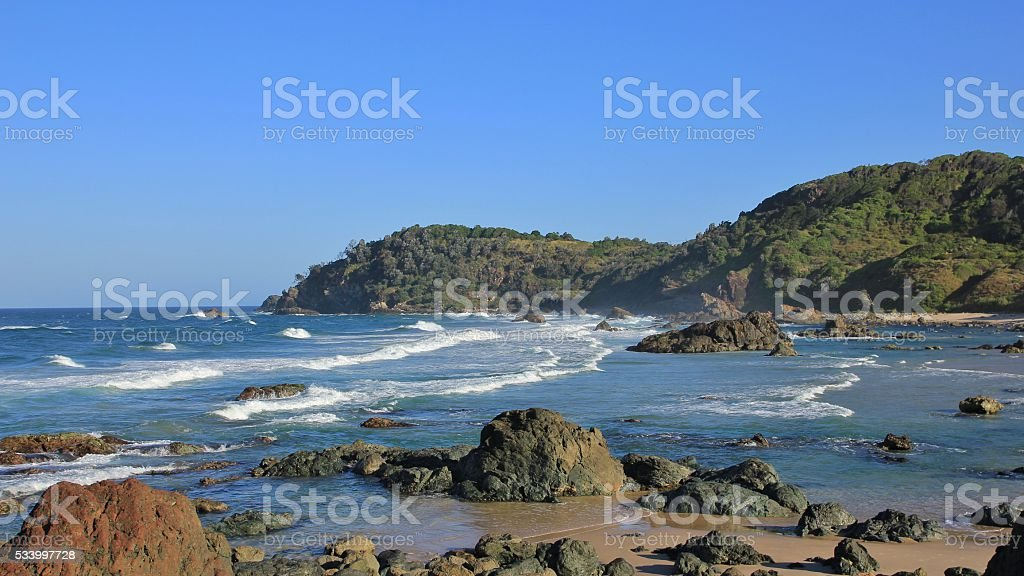 Beach in Port Macquarie, New South Wales stock photo
