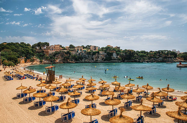 Beach in Porto Cristo on Mallorca, Balearic Islands, Spain – Foto