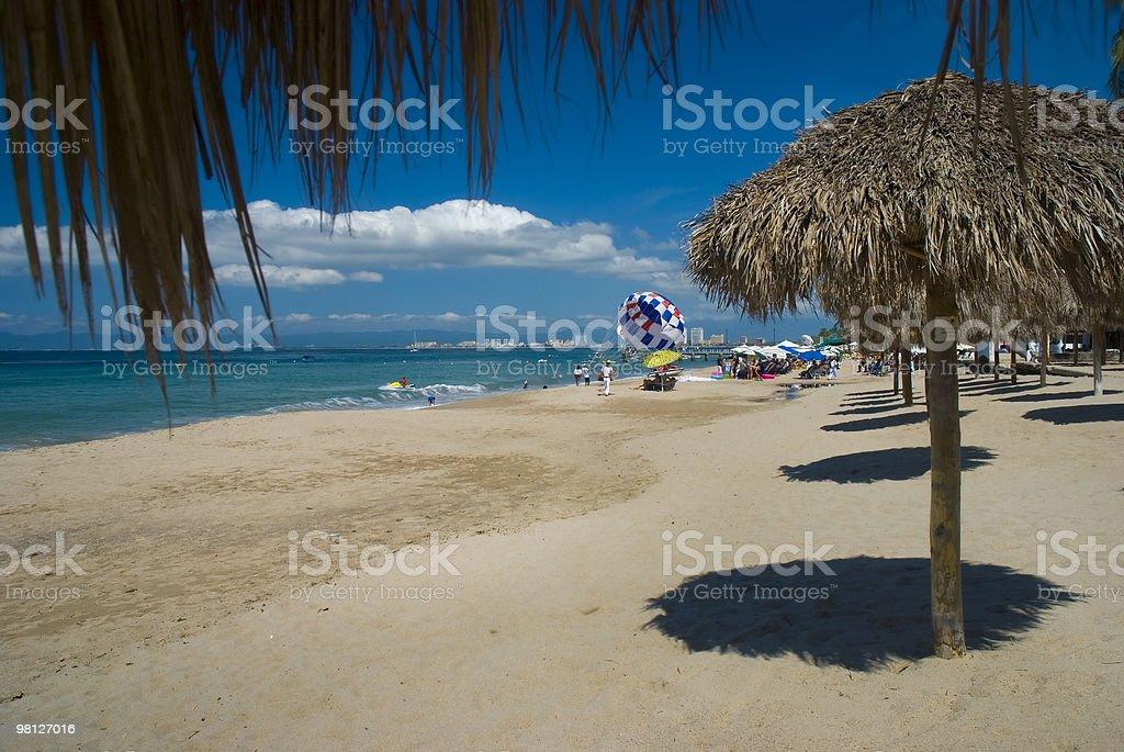 Beach in Puerto Vallarta, Mexico royalty-free stock photo