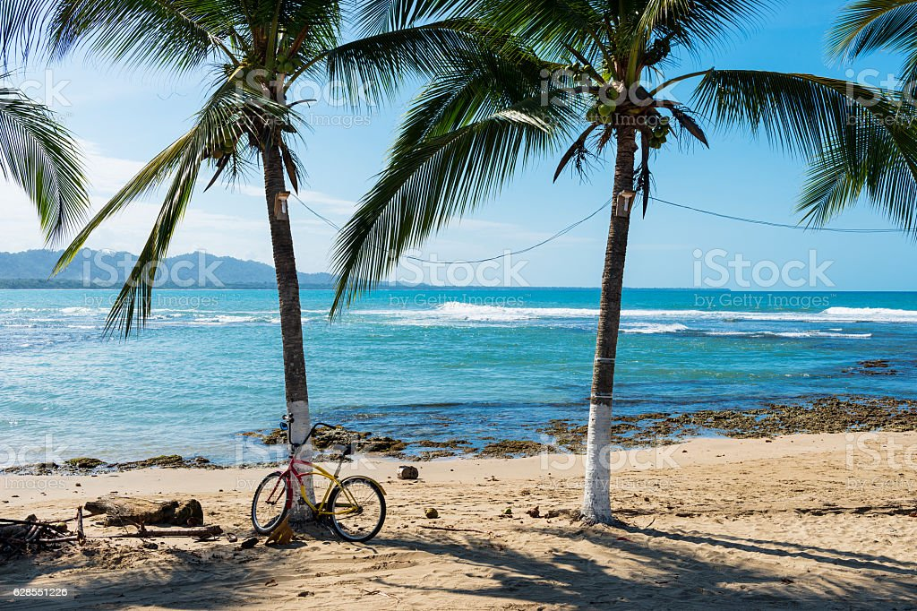 Beach in Puerto Viejo de Talamanca, Costa Rica stock photo