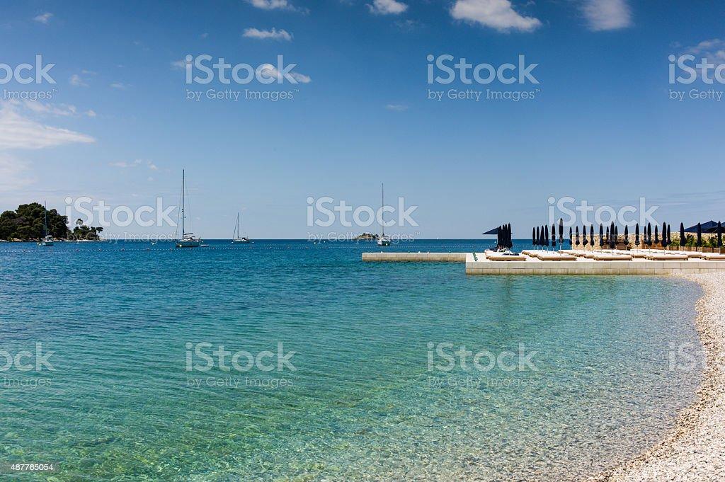 Strand in Rovinj Kroatien – Foto