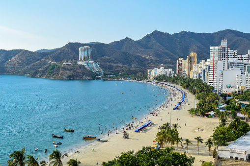 Beautiful view of a beach in Santa Marta, Colombia