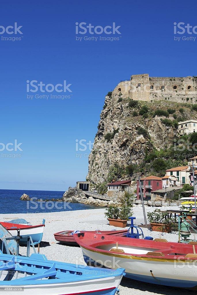 Beach in Scilla stock photo