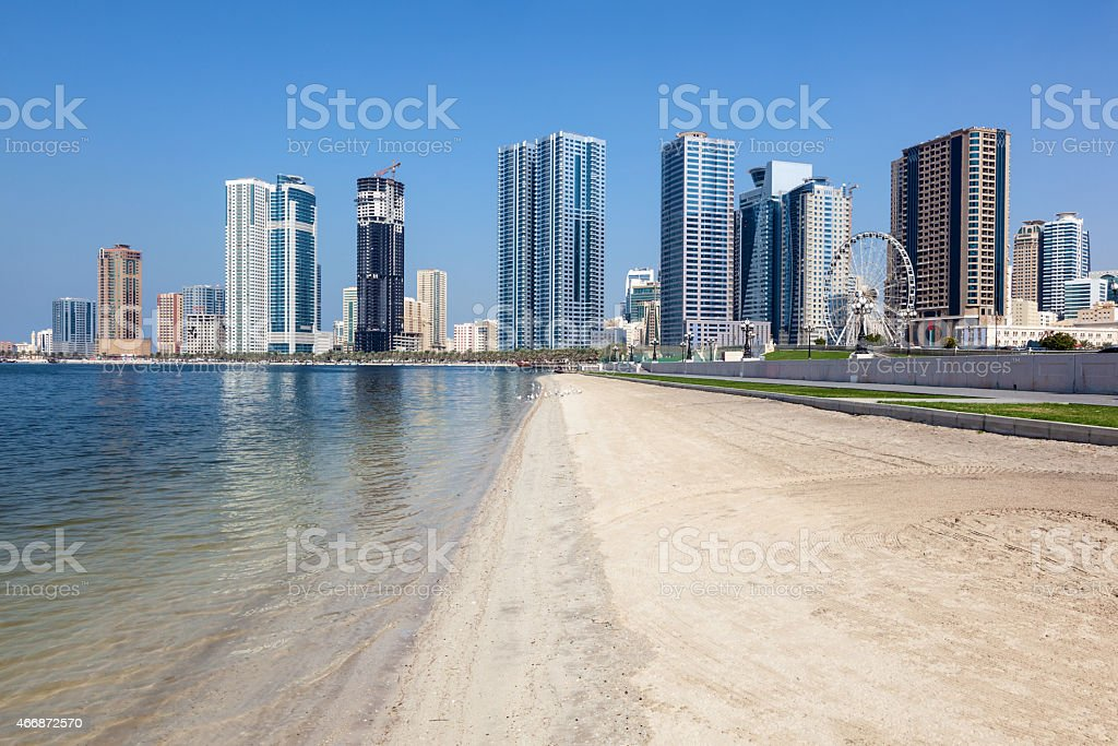 Strand in Sharjah City Lizenzfreies stock-foto