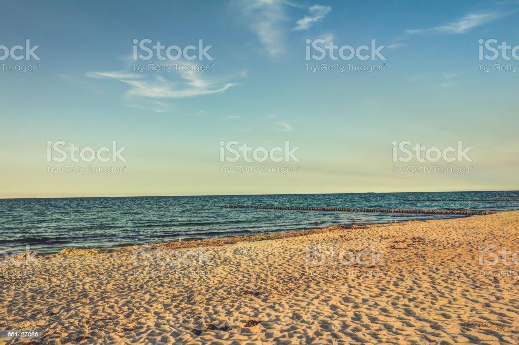 Beach in summer stock photo