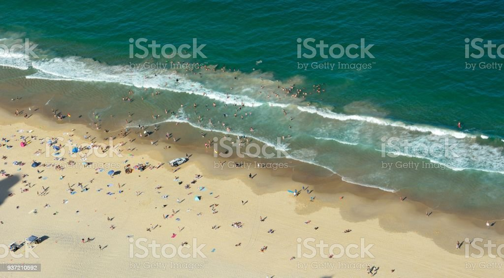 Beach in Surfers Paradise on the Gold Coast in Queensland stock photo