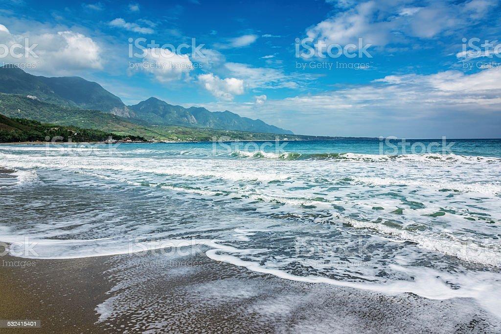 Beach in Taiwan, East Coast National Scenic Area stock photo
