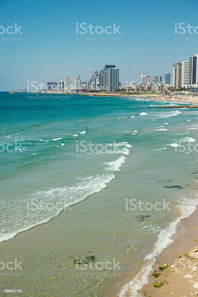 Beach in Tel Aviv royalty-free stock photo