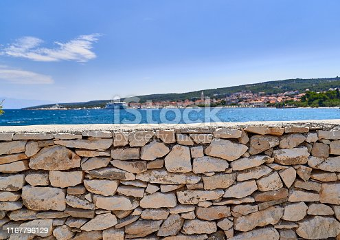Beach in the area of Supetar. Brac island . Croatia