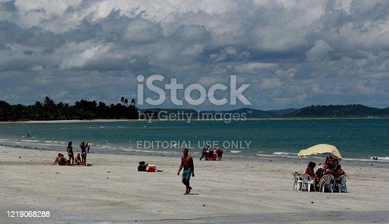 madre de deus, bahia / brazil - October 1, 2012: View of the beach in the center of Madre de Deus.
