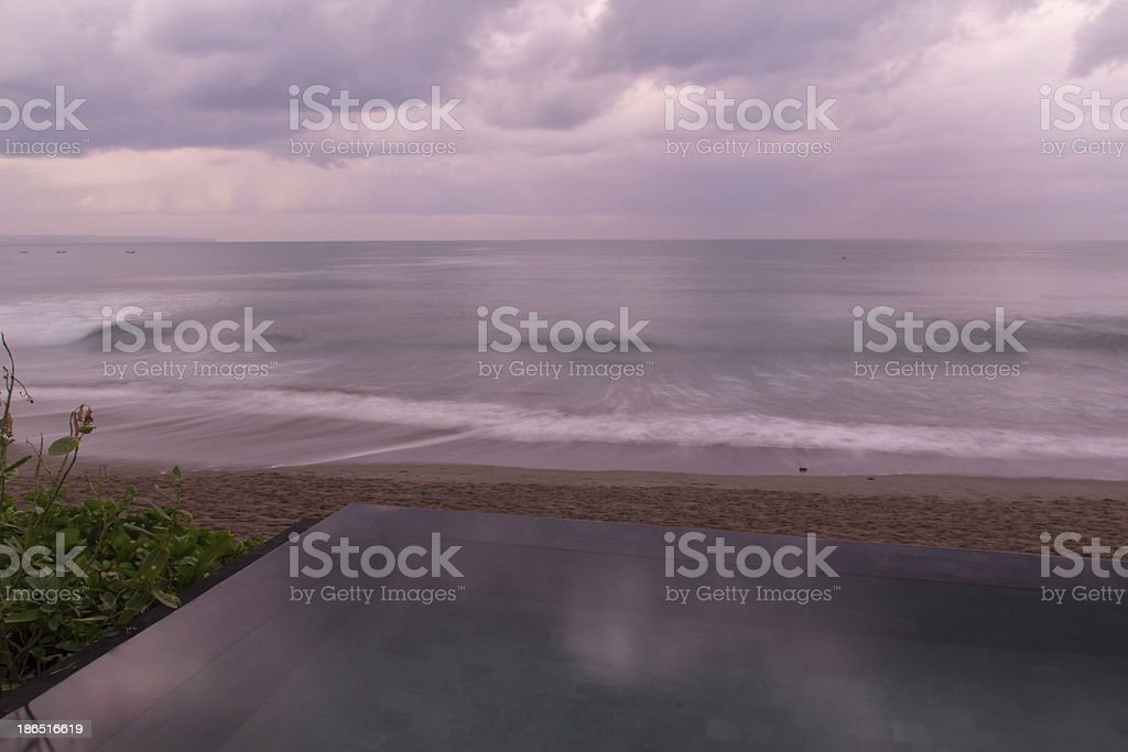 Beach in the morning royalty-free stock photo