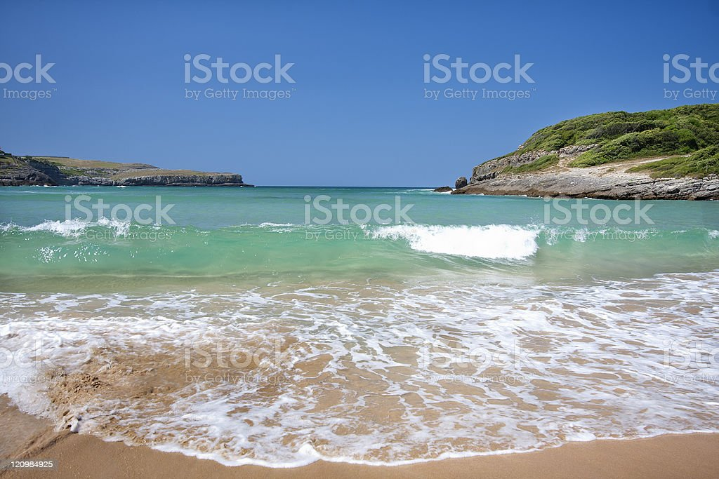 Beach in the north of Spain royalty-free stock photo