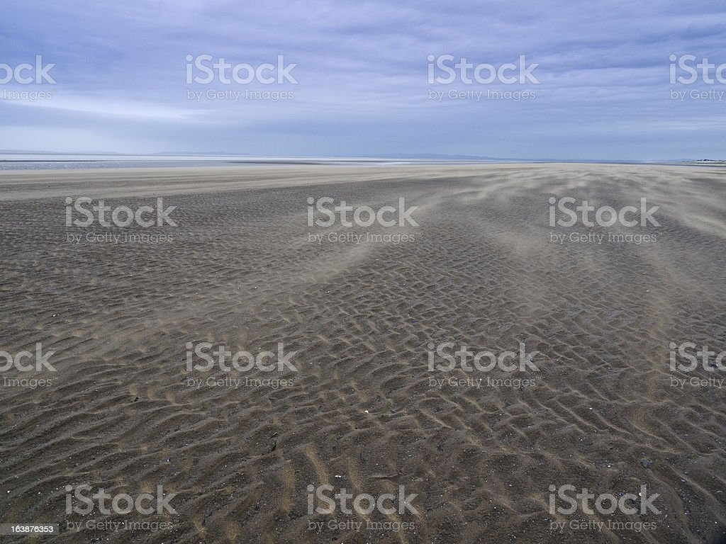 Beach in the storm royalty-free stock photo