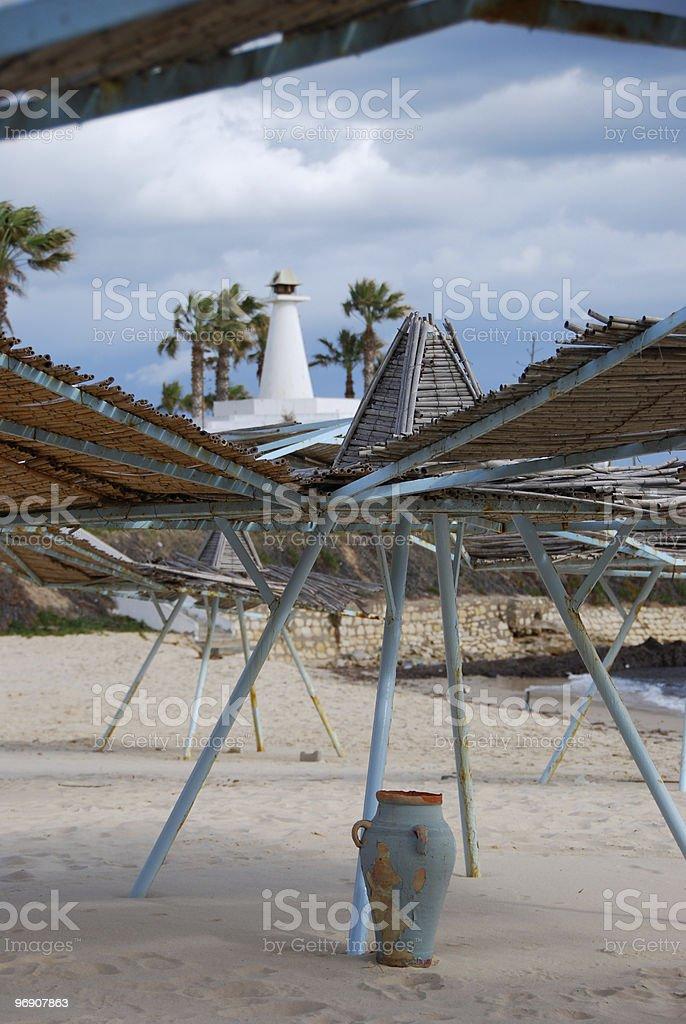 beach in Tunisia royalty-free stock photo