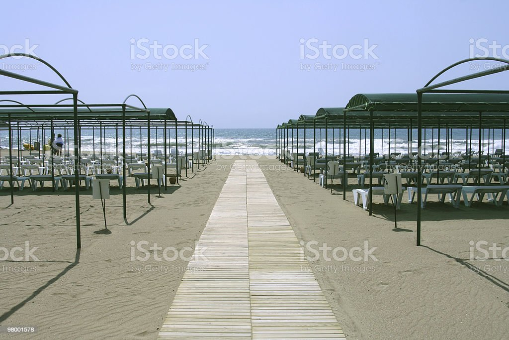 Beach in Turkey royalty-free stock photo