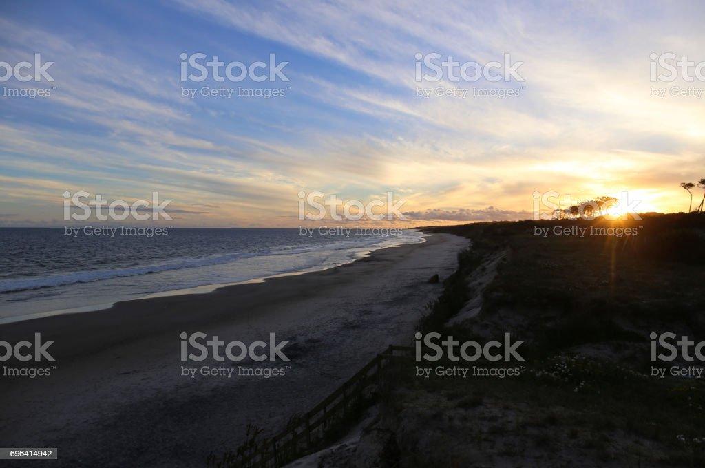 Beach in Uruguay stock photo