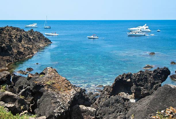 beach in Ustica Island,Sicily - foto stock