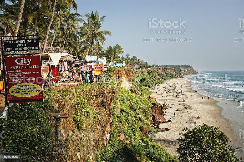 Beach in Varcala stock photo
