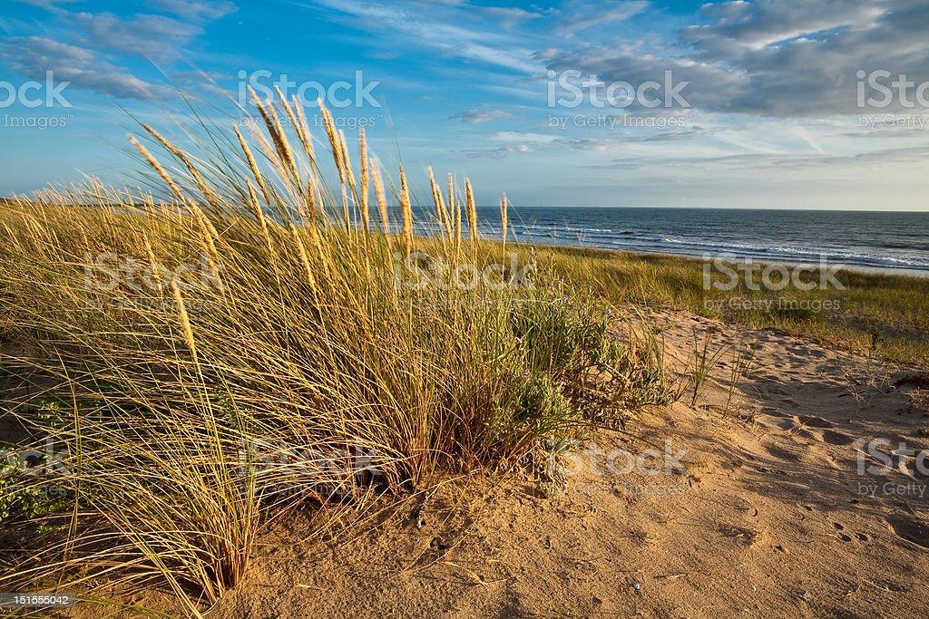Beach in Vendee, France stock photo