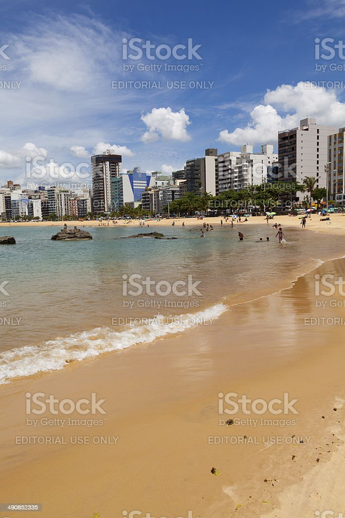 Beach in Vitoria,Espirito Santo,Brazil royalty-free stock photo
