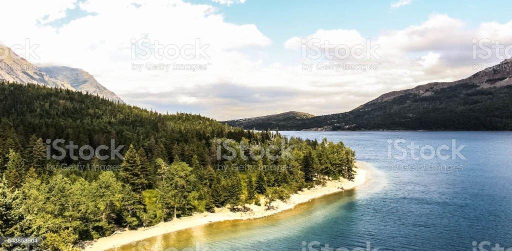Beach in Waterton stock photo